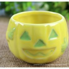 Керамическая чаша из тыквы