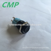 5A Off- ( ON) Black Momentary Switch 16mm Panel Size 12v