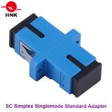 Sc Simplex Singlemode Adaptador padrão de fibra óptica de plástico