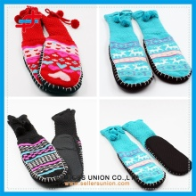 Kids Winter Knitted Fuzzy Home Indoor Shoe Socks