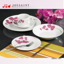 Runde Form Keramik Geschirr Abendessen Sets