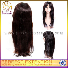 Para Black Girl Remy Hair Kinky Silk Top Pelucas Judías de la Virgen China