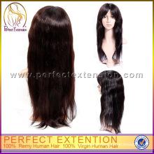 Para Black Girl Remy Hair Kinky Top De Seda Chinês Virgem Perucas Judaicas