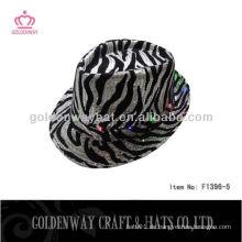 Zebra Streifen LED Pailletten Hut