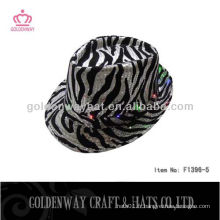 Zebra Stripe LED chapeau sequin