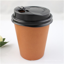 Tasse à café en papier jetable de 10 oz avec couvercle