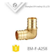 EM-F-A258 Brass plumbing 90-degree Round Tooth male union elbow adapter