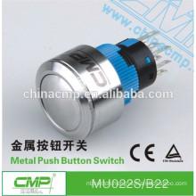 MU022S/B11 22mm Metal Dome Switch