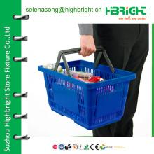 Пластмассовая корзина для переноски, корзина для покупок из пластика, корзина для покупок