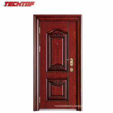 TPS-020 Made in China Stand Size of Main Gate Modern Building Materials Steel Door