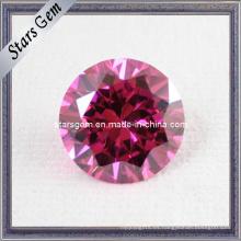 Brillante corte de color rosa CZ suelta cuentas
