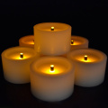 gerçek wax mini flameless led tealight mum
