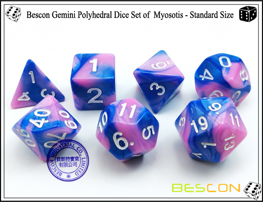 Bescon Gemini Dice Set of Myosotis-3