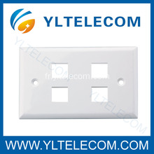 Mur Face plaque RJ45 quatre ports 4 ports 70 * 115MM