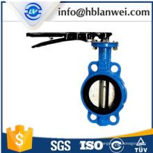Válvula de borboleta manual do punho de aço D71X-16