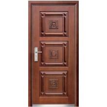 Turquia estilo turco porta de madeira porta blindada de aço