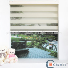 Modern home decor ivory white zebra blinds components