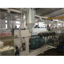 Linha de produção plástica da tubulação / tubulação do PE que faz a máquina da extrusão