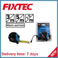 Cinta de medición de acero ABS Fixtec 7.5m con goma plástica TPR