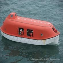 Bote salvavidas cercado FRP marino con 20 personas