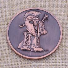 3D Metal Antique Bronze Geico Coin