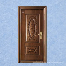 Novo design, porta de segurança de aço cobre de imitação