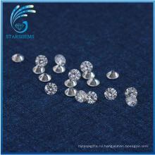 Лучший Заводская Цена оптовой 2,2 мм круглой бриллиантовой огранки Муассанит