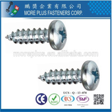 Fabricant à Taïwan Acier inoxydable M2.2X16 Pan Head Petite vis de tapiture de taille