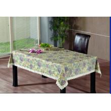 Toalha de mesa de gravação em PVC com apoio de flanela (TJG0015)