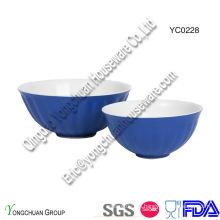 Conjunto de tazón de fuente de dos tonos de cerámica para servir