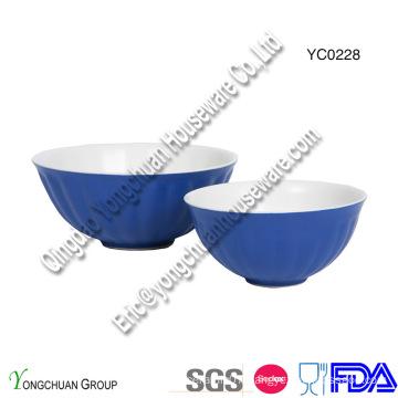 Promotional Two Tone Ceramic Serving Bowl Set