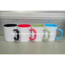 Tasse en plastique enduite par sublimation de 11oz, tasse en plastique enduite par sublimation de couleur