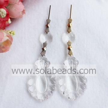 30*50mm Plastic Crystal Lighting garland Drop