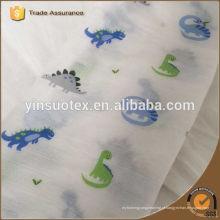 100% fábrica algodão orgânico bule bebê manta para o bebê