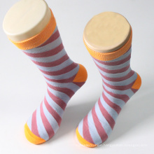Colorful Stripe Design Man Cotton Crew Sock