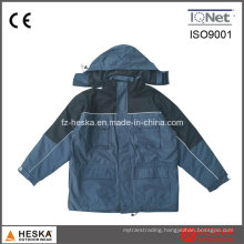 OEM Workwear PVC Waterproof Ripstop Mens Padded Winter Jacket