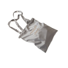 large satin bag for shopping with handle