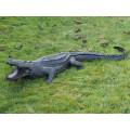 Sculpture d'alligator en cuivre de haute qualité