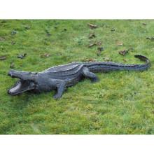 Escultura de cocodrilo de cobre de alta calidad