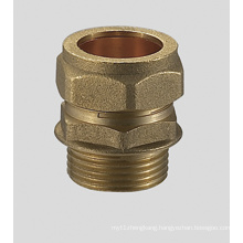 Brass Compression Fitting Straight Male Coupler FxC