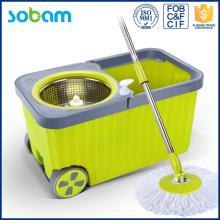 Blue Good Price Turbo Spin Mop With Wheels