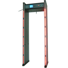 Six zones LCD security metal detector