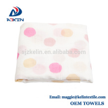 "Promotion 100% organic soft 47""x47"" large muslin baby swaddle blanket"