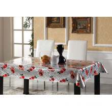 Silver Embossed PVC Printed Tablecloth All Design