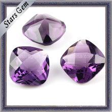 Moda de alta qualidade ametista quadrado cubic zircônia para jóias