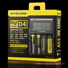 Chargeur universel Nitecore, chargeur batterie Nitecore D4 LCD
