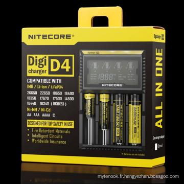 Chargeur universel Nitecore, chargeur batterie Nitecore D4 LCD