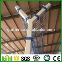 Valla de aeropuerto recubierta de PVC / 2x2 Acoplamiento de alambre soldado galvanizado para valla