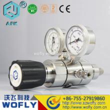 Regulador de alta pressão de dois estágios de gás nitrogênio co2