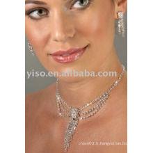 Ensemble de bijoux en strass demoiselle d'honneur